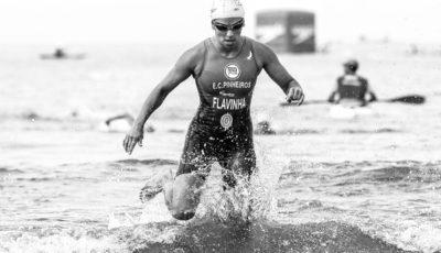 Flávia Fernandes, a atual campeã do Troféu Brasil de Triathlon. Foto: Gulherme Dionízio