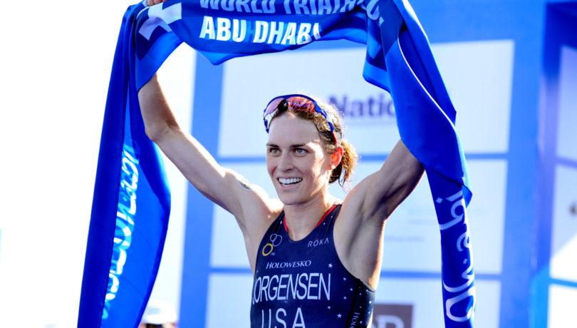 A americana Gwen Jorgensen conquistou sua 6ª vitória seguida no WTS. Foto: Janos Schmidt / ITU