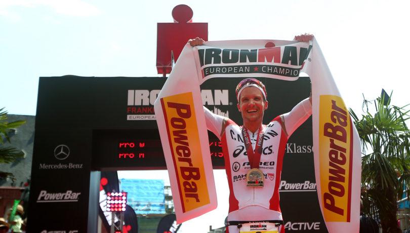 Jan Frodeno, o novo campeão europeu de Ironman. Foto: Charlie Crowhurst / Getty Images