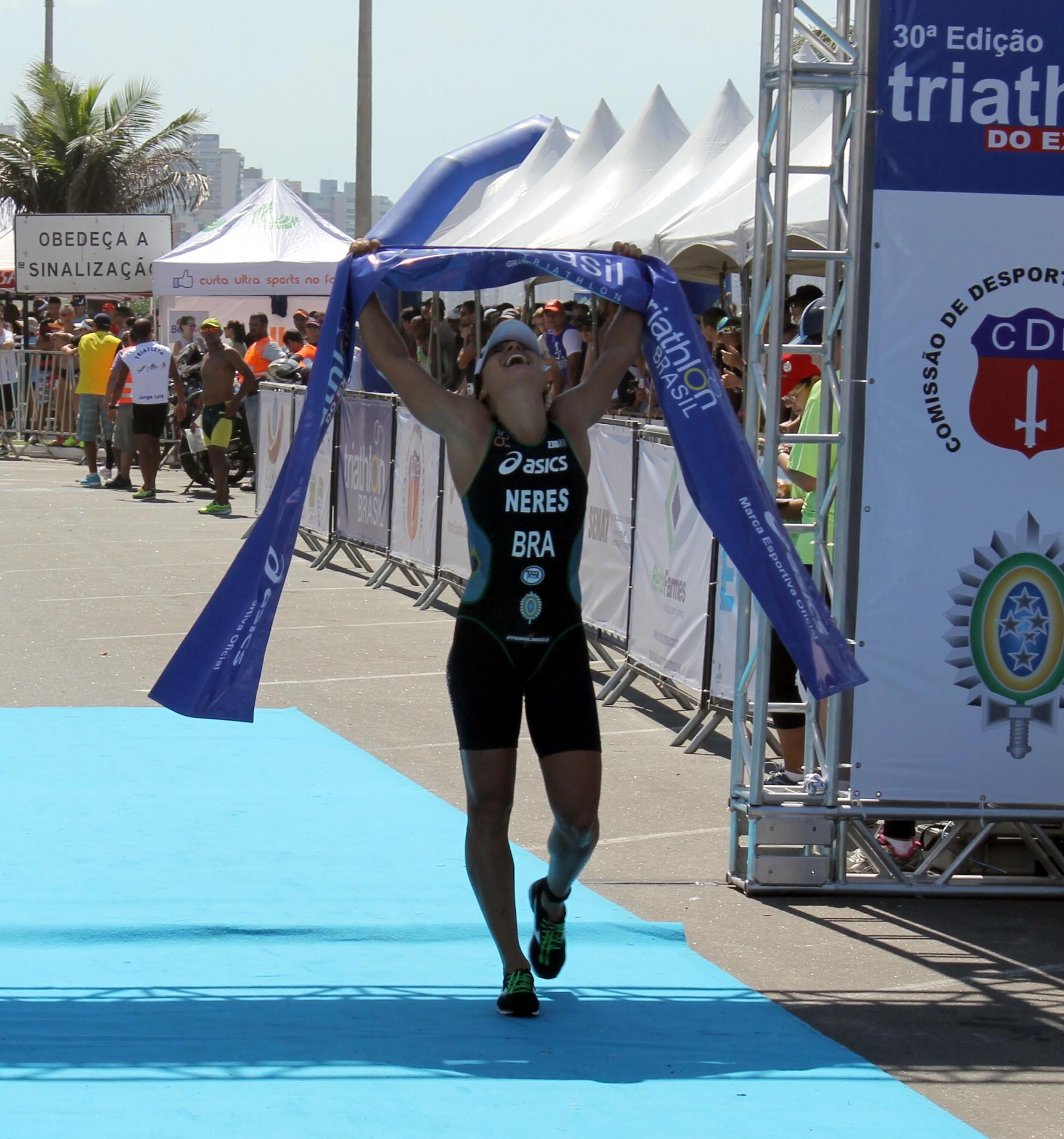 Beatriz Neres, campeã do 30º Triathlon do Exército - Foto: Pauta Livre