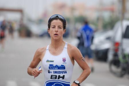 A espanhola Gurutze Frades, campeã do Ironman Vichy
