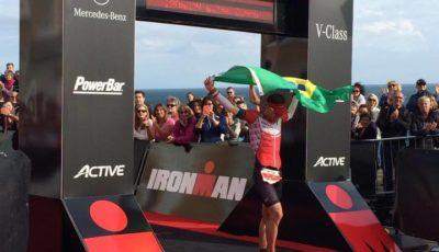 Felipe Manente, 8º colocado no Ironman Wales