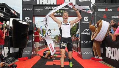 Kirill Kotsegarov, campeão no sprint do Ironman Chattanooga. Foto: Eddie Silvers/FinisherPix.com