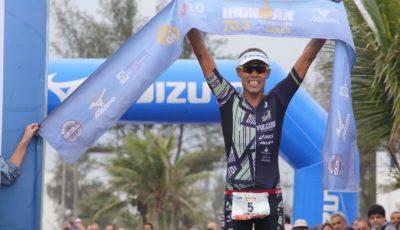 Santiago Ascenço, campeão do Ironman 70.3 Rio 2015. Foto: Fernanda Paradizo