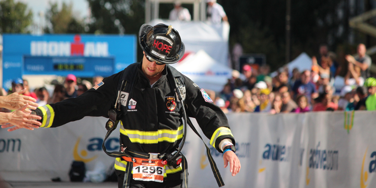 Robert Verhelst, o bombeiro Rob. Foto: Ironman.com