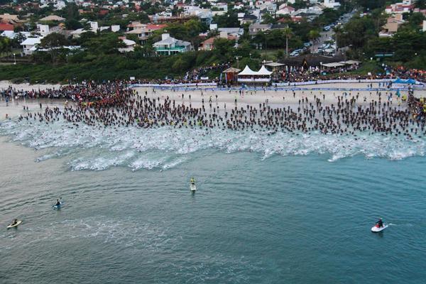 Largada do Ironman Florianópolis. Foto: Divulgação
