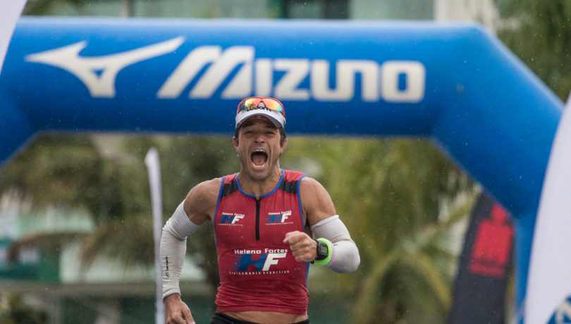 Felipe Dayrell, primeiro amador geral no recente Ironman Brasil FLN. Foto: Ricardo Andrade