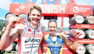 Jeffrey Symonds e Jen Annett, campeões do Challenge Penticton. Foto:Kristi Patton/Penticton Western News