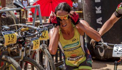 Laura Mira, campeã do Duathlon do Xterra Estrada Real. Foto: Thiago Lemos