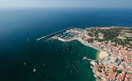 Vista aérea de Cascais, a bela cidade que receberá o Ironman 70.3 Portugal