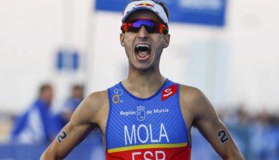 Mario Mola, novo campeão mundial de triathlon