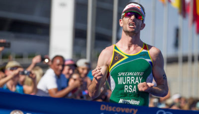 Winner Discovery Triathlon World Cup Cape Town Richard Murray